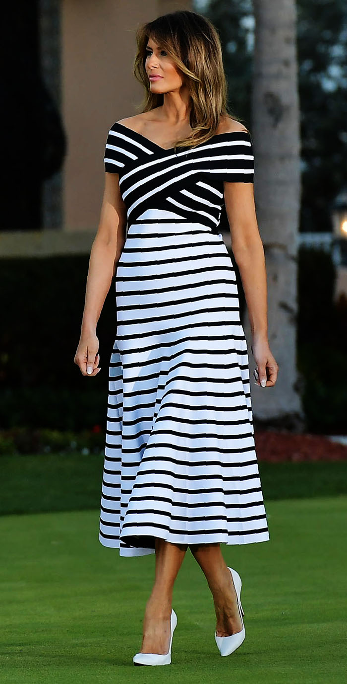 Melania Trump y su espectacular vestido -a prueba de lonjitas- - Foto 1