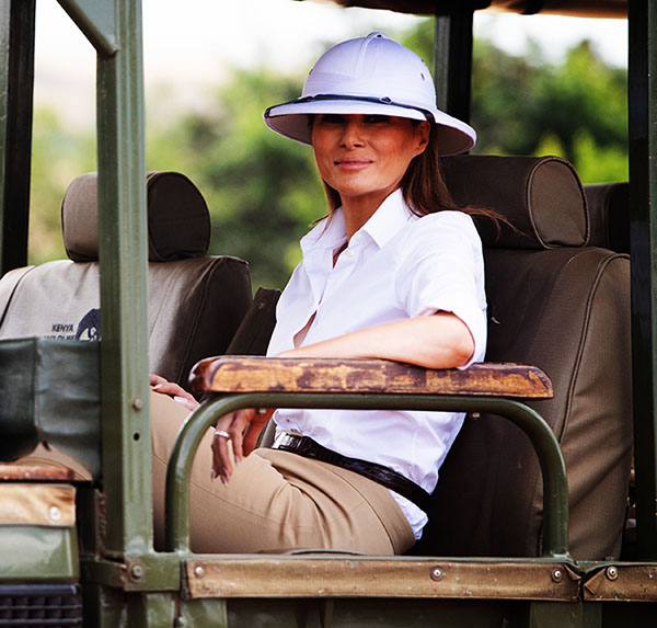 melania-trump-safari-coche