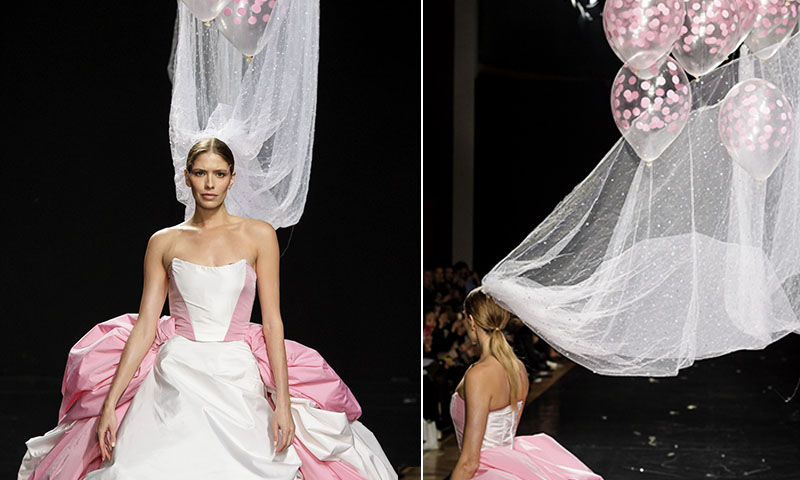 3896bf9b97 Un velo... ¿con globos  El vestido de novia del que todos hablan - Foto