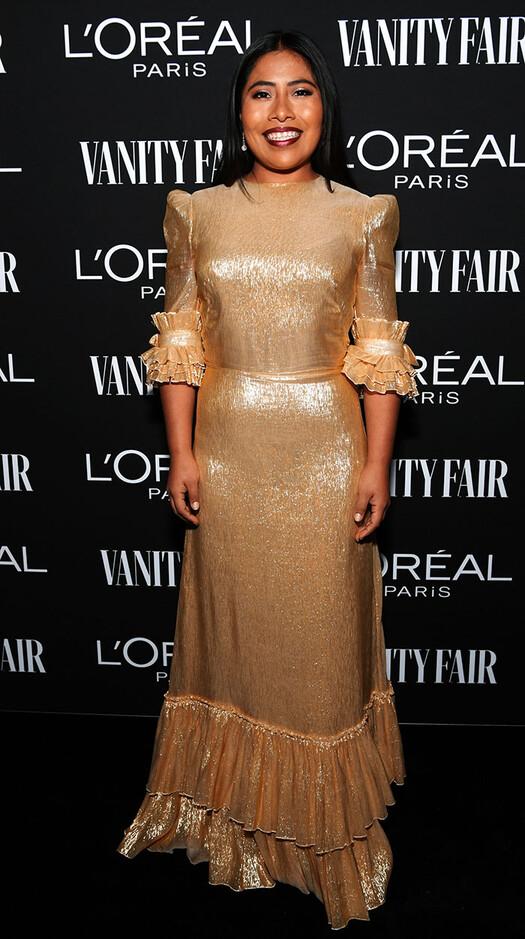 De dorado, ¿para llamar al Oscar? Yalitza Aparicio y el vestido ...