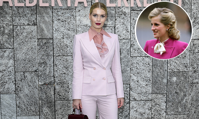 Lady Kitty Spencer y el sofisticado look -con el que hizo recordar a su tía, Lady Di-