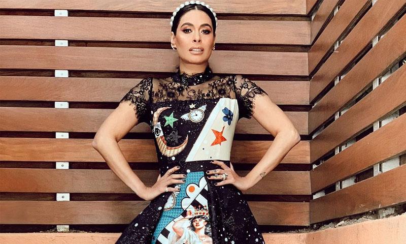 ¡De otro mundo! Galilea Montijo, su espectacular vestido y zapatos Gucci con los que brilló - MX.HOLA.COM