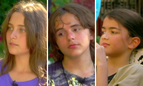 Paris, de doce años, Prince, de trece, y 'Blanket', de ocho