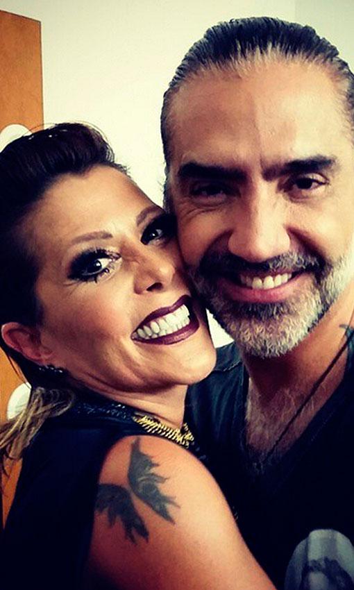 Alejandra Guzmán y Alejandro Fernández, los tocayos guapos de la música mexicana
