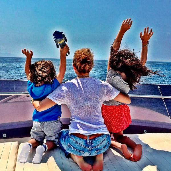 thal237a de vacaciones en italia con sus hijos