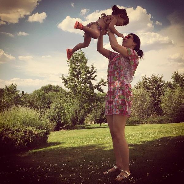 Laura Pausini acompañó a su hija en su primer día de clases