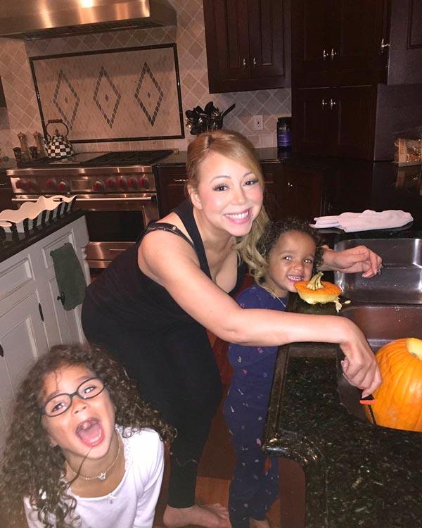 thal237a y mariah carey se preparan para halloween con sus
