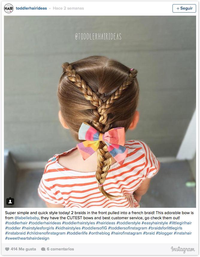 12 peinados con trenzas para las 39 princesas del verano - Peinados para nina ...