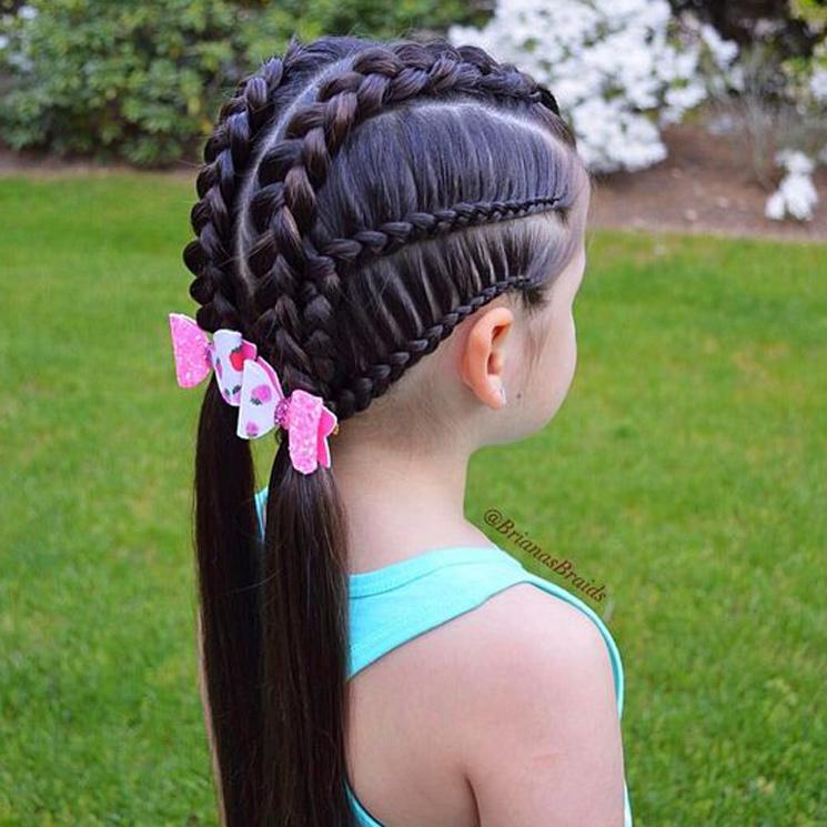 Sensacional peinados trenzas niñas Fotos de ideas de color de pelo - Cinco peinados con trenzas para niñas - Foto 1