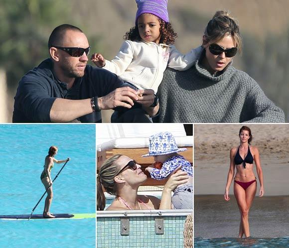 <strong>Heidi Klum, Stephanie Seymour, Lily Cole y Molly Sims</strong>&hellip; Fin de A&ntilde;o <strong>en la playa</strong>