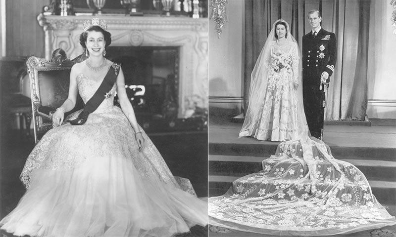 Los vestidos de boda y coronación de la Reina serán expuestos por primera vez