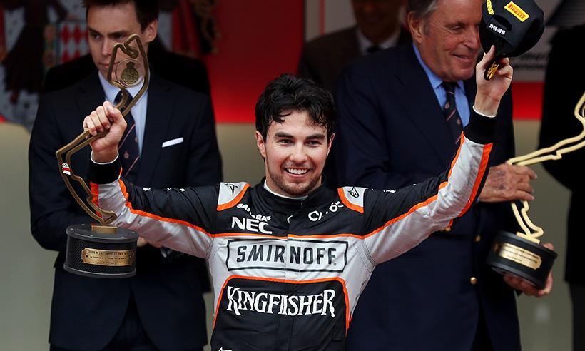Checo Pérez sube al podio en Premio de Mónaco