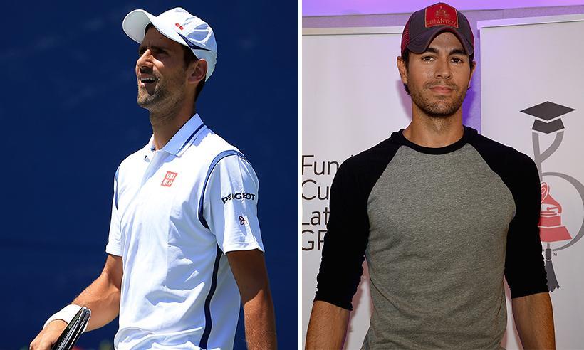 Novak Djokovic asiste al concierto de Enrique Iglesias en Mónaco