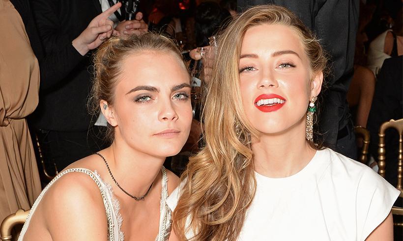 Amber Heard sale de fiesta con Cara Delevingne y Margot Robbie tras finalizar su divorcio con Johnny Depp
