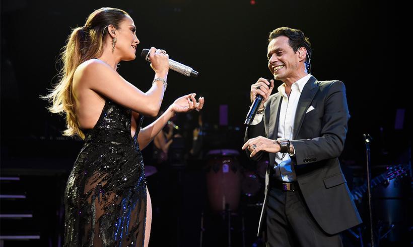 Jennifer Lopez se reencuentra en el escenario con Marc Anthony tras su rompimiento con Casper Smart