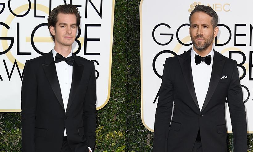 El divertido beso entre Ryan Reynolds y Andrew Garfield en los Golden Globes