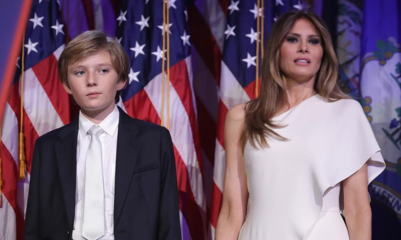 Barron Trump será el primer hijo varón de un presidente en vivir en la Casa Blanca desde 1963