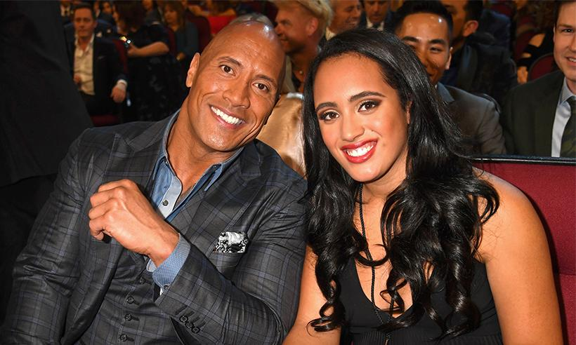 ¡Idénticos! Dwayne 'The Rock' Johnson asiste a los PCAs con su hija Simone