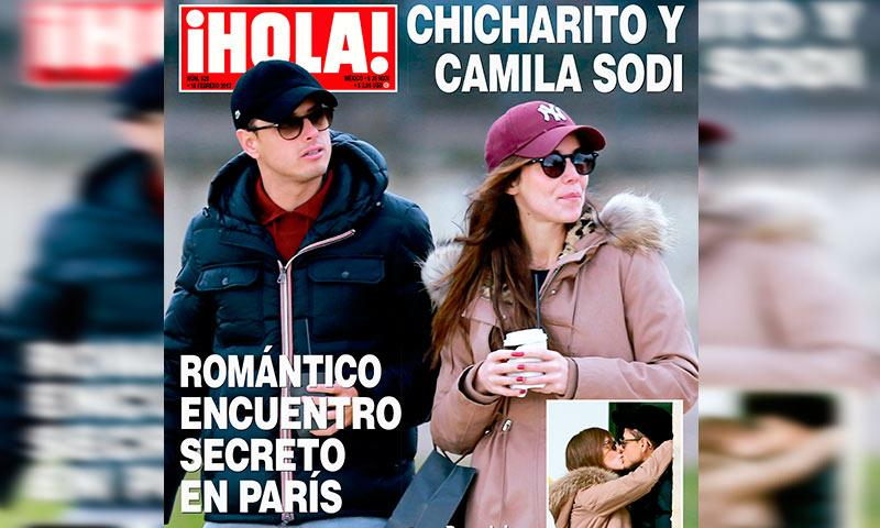 Chicharito y Camila Sodi sorprenden con romántico encuentro secreto en París