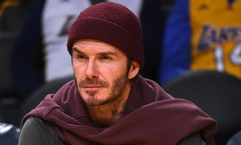 David Beckham sufre un pequeño accidente practicando snowboard en Canadá