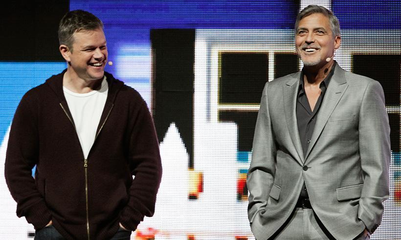 Matt Damon bromea sobre la paternidad de George Clooney: 'Será un desastre, pero Amal se hará cargo'