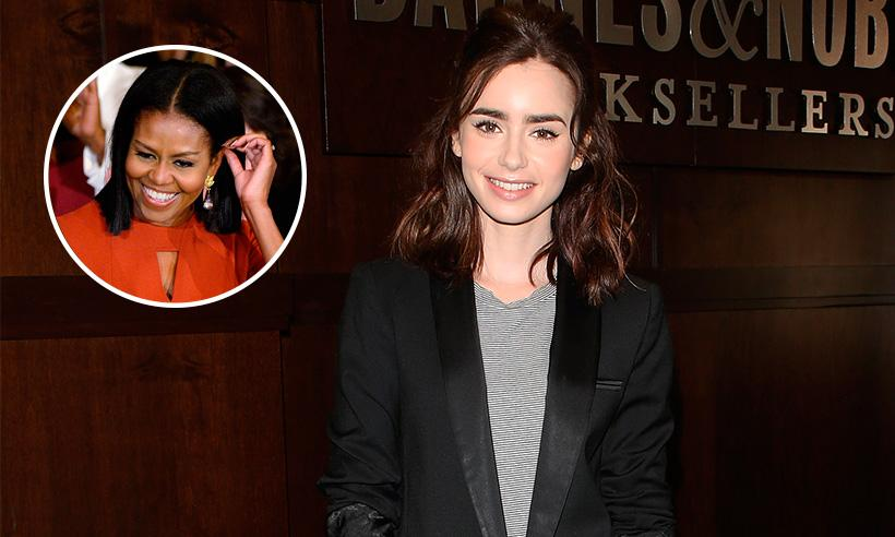 Michelle Obama envía una emotiva carta a Lily Collins