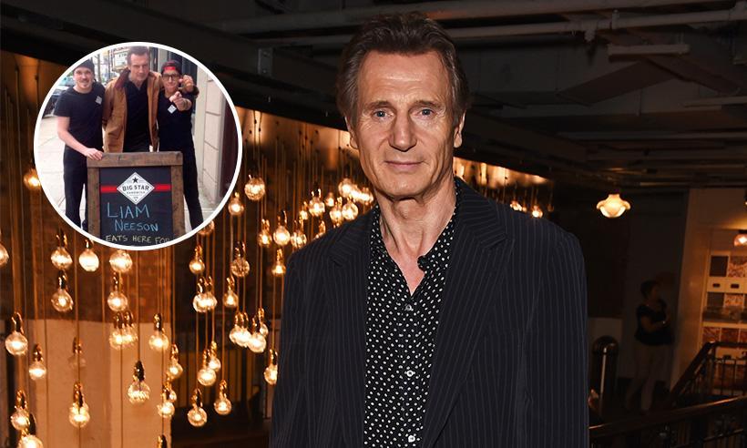 Liam Neeson hace una aparición sorpresa en un restaurante que le ofreció comida gratis