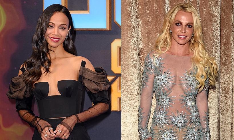 Zoe Saldana habla de la vez que Britney Spears reveló por accidente que esperaba gemelos