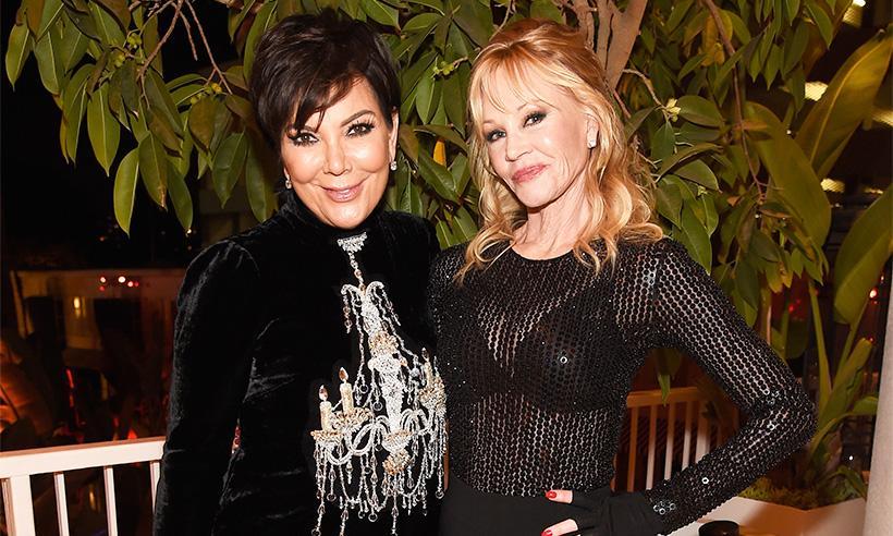 Kris Jenner sobre su gran amistad con Melanie Griffith: 'Es hermosa por dentro y por fuera'
