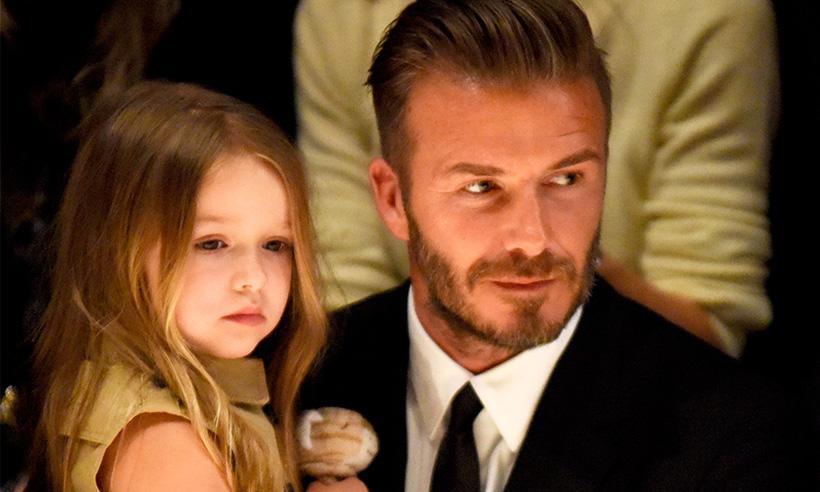 David Beckham responde alas críticas por besar a su hija Harper en los labios