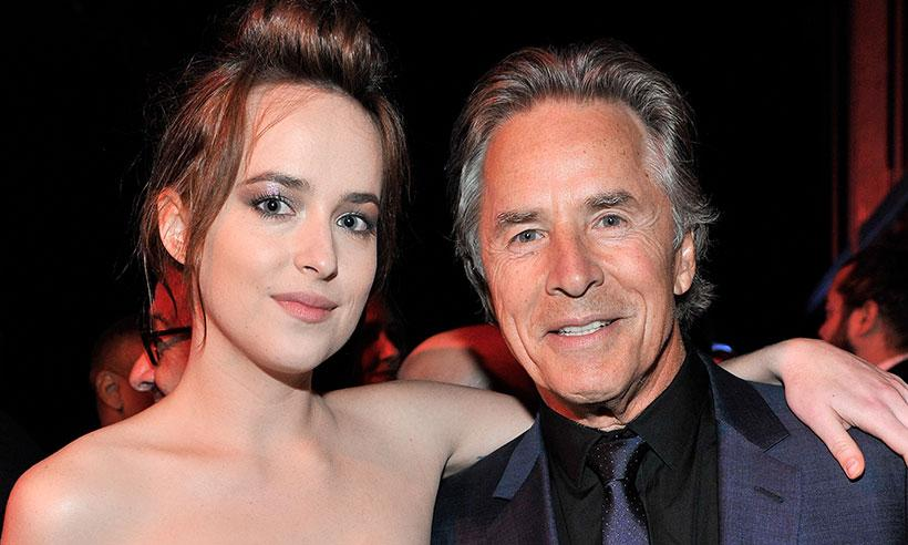 El padre de Dakota Johnson, Don Johnson, conoció a su novio Chris Martin