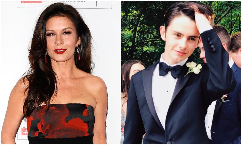 La emotiva  despedida de Catherine Zeta-Jones a su hijo en la universidad