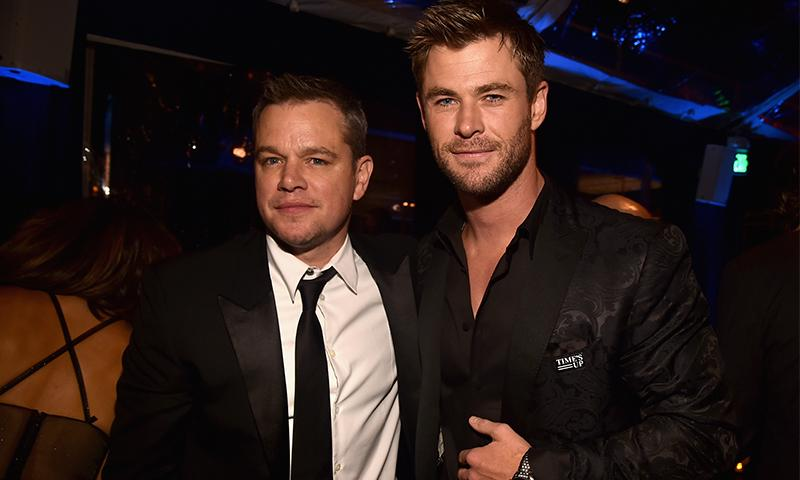 Chris Hemsworth de Matt Damon: 'Me quería casar con él'