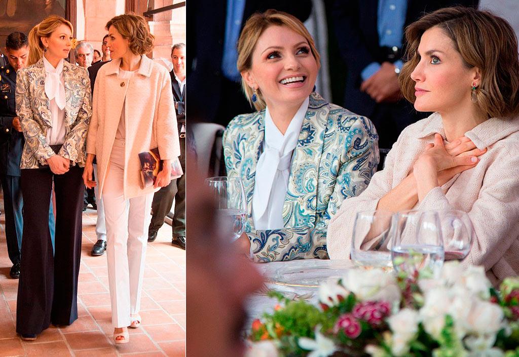 La Reina Letizia y Angélica Rivera, calurosa despedida en Zacatecas y fin al duelo de estilos