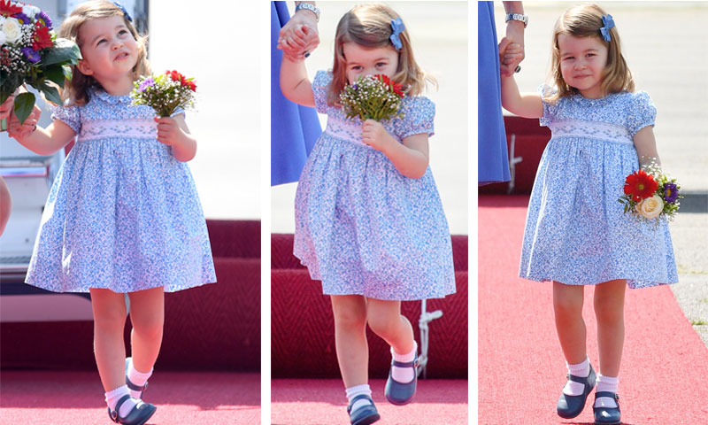 La Princesa Charlotte da lecciones de protocolo y simpatía