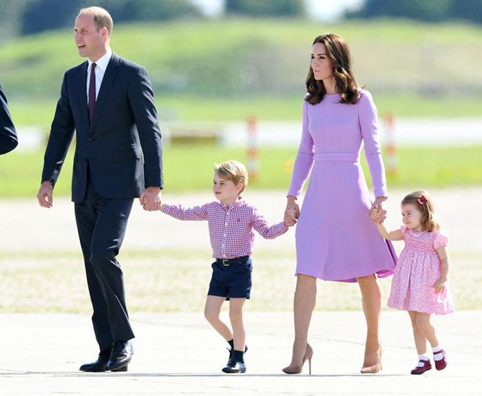 ¡Mini berrinche! Lo que hizo la Princesa Charlotte para no subirse a un helicóptero