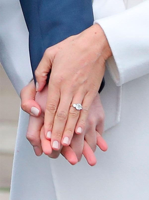 Así es el anillo que el Príncipe Harry le dio a Meghan Markle