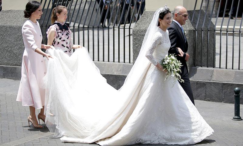 boda de christian de hannover y alessandra de osma: el vestido de novia