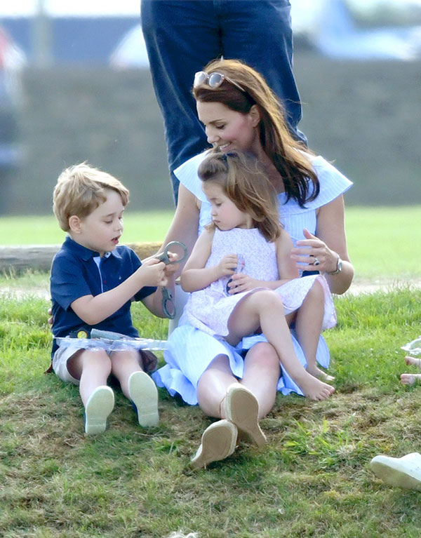 Kate Middleton, George y Charlotte