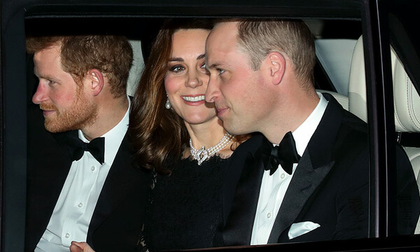 Harry, Kate y William