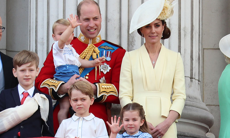 Las caras y gestos de George, Charlotte y Louis se llevan el Trooping the Colour