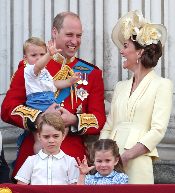 Príncipe William, Kate Middleton y Príncipe Louis
