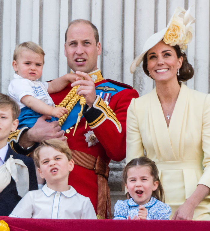 Kate, William e hijos