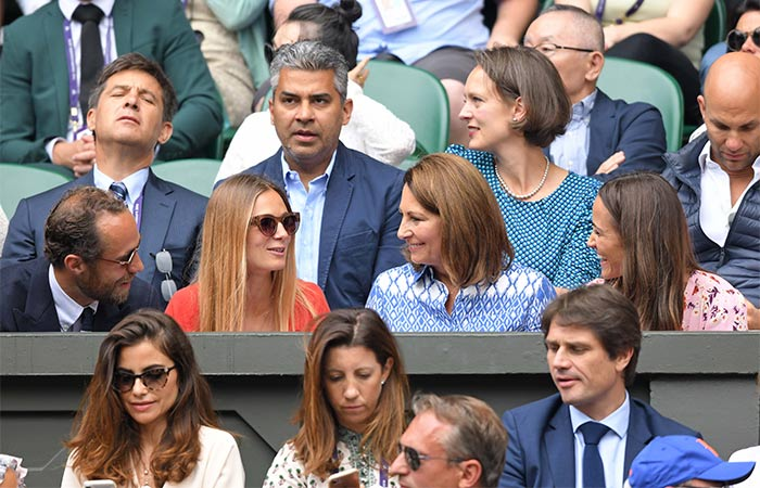 Carole, James y Pippa Middleton