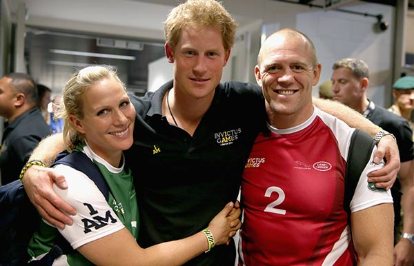 Harry y Mike y Zara Tindall