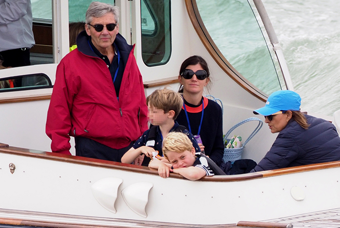 Michael y Carole Middleton con George