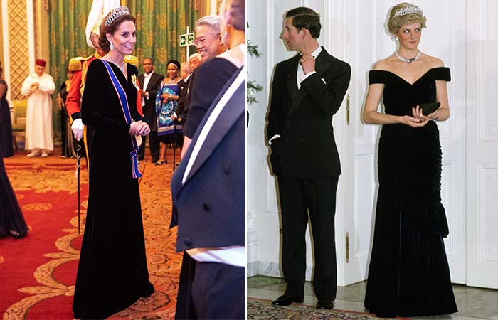 Kate Middleton y Princesa Diana