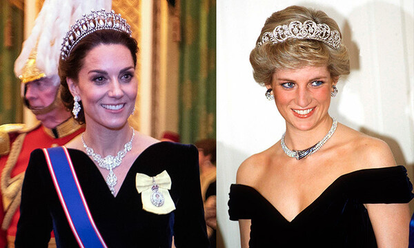 Princesa Diana y Kate Middleton