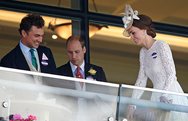 Thomas van Straubenzee con Kate y William