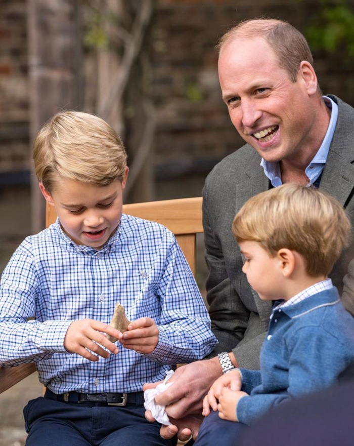 El Príncipe William y sus hijos George y Louis